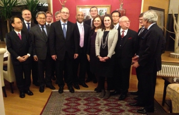 Croatian DPM and FM Stier hosted at Ambassador's Residence, 12 Jan 2017