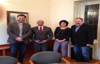 Ambassador's meeting with HINA representatives, 04 Jan 2017