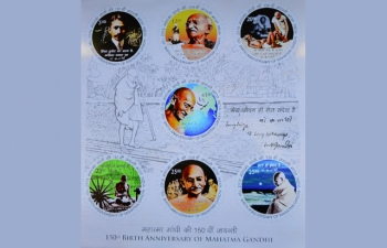 Release of Commemorative Postage Stamps on the occasion of 150th Birth Anniversary of Mahatma Gandhi