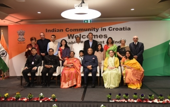 Group Pictures with HR President Kovind during his State Visit to Croatia on 26 March 2019