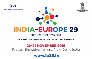 5th India-Europe 29 Business Forum (IE29BF) is being held on 20-21 November, 2019 at the Pravasi Bhartiya Kendra, New Delhi.