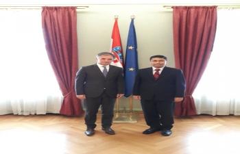 Ambassador Arindam Bagchi met Hon. Dr. Milorad Pupovac, MP and President of Independent Democratic Serb Party of Croatia on 29 April 2019