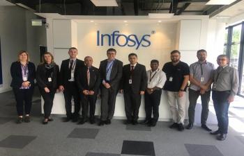 Ambassador Arindam Bagchi visited Infosys office at Karlovac on 30 April 2019