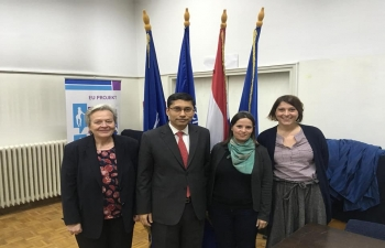 """Ambassador Bagchi held a lecture titled """"New India"""" at the Public Open University Zagreb (POUZ) on 8 May 2019"""