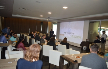 Embassy organized an interactive meeting to follow the general election results on 23 May 2019
