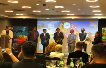 Ambassador Arindam Bagchi attended the Goa Evening in Zagreb where the beautiful beaches, hills, delicious cuisine and vibrant nightlife of Goa were presented to Croatia on 31 May 2019