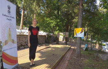 International Day of Yoga pre-event in Korcula on 3 June 2019