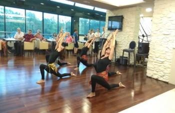 International Day of Yoga side events held during in Arena Centar, Namaste Indian Restaurant and Dverce Palace in Zagreb Upper Town on 8 June 2019