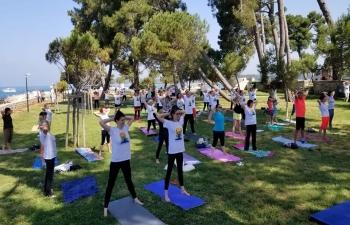 International Day of Yoga in Novigrad on 16 June 2019