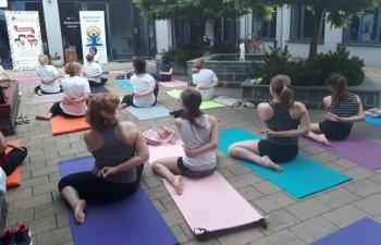 International Day of Yoga in Slatina, Velika Gorica and Križevci on 19 June 2019