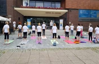 International Day of Yoga in Suhopolje, Koprivnica, Lepoglava and Čakovec on 21 June 2019