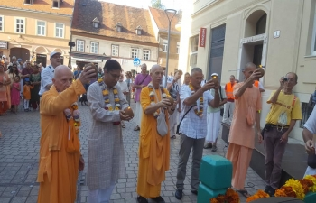 ISKCON Zagreb, supported by Indian Embassy, celebrated Ratha Jatra in Zagreb on 11 Aug 2019.