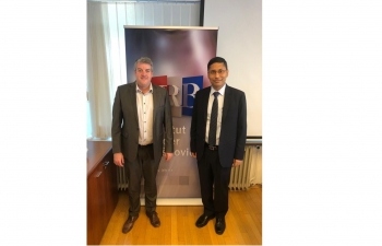 Ambassador Arindam Bagchi met with Dr. David Matthew Smith, Head of Ruđer Bošković Institute, strengthening scientific cooperation between India and Croatia on 25 July 2019