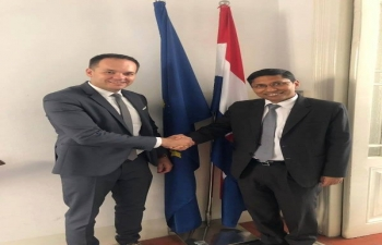Ambassador Arindam Bagchi met Honourable Mr. Zdenko Lučić, State Secretary at the Ministry of Economy, Entrepreneurship and Crafts on 21 Aug 2019