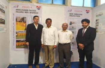 Ambassador Arindam Bagchi congratulated Mr. Tomislav Pokrajcic for winning Gold Medal at International Innovation Fair in Hyderabad on 1-3 Dec 2019