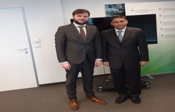 Minister of Environment and Energy Mr. Tomislav Coric to lead a Croatian delegation to Convention on Migratory Species CMSCOP13 in Gandhingar. Ambassador Arindam Bagchi met Hon'ble minister on 10 February 2020 to wish him a successful visit.