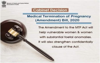 Medical Termination of Pregnancy (Amendment) Bill 2020 aims to strengthen access to comprehensive abortion care without compromising service and quality of safe abortion.