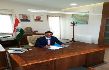 Ambassador-designate Mr. Raj Kumar Srivastava assumed charge of the Embassy of India, Zagreb