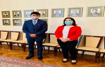 Ambassador H.E. Mr. Raj Kumar Srivastava presented copy of the Credentials to Ms Emilija Vučinić-Margeta, Chief of Diplomatic Protocol at Ministry of Foreign and European Affairs of the Republic of Croatia