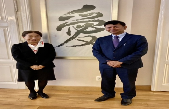 H.E. Ambassador Raj Kumar Srivastava met with H. E. Ambassador Misako Kaji of Japan in Zagreb