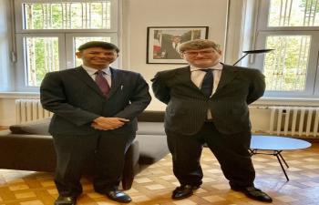 H.E. Ambassador Raj Kumar Srivastava met his French counterpart in Zagreb, H.E. Ambassador Gaël Veyssiere
