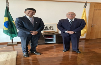 H.E. Ambassador Raj Kumar Srivastava called on H.E. Ambassador Mauro Viera of Brazil in Zagreb