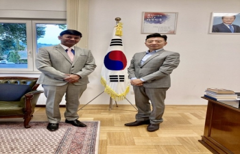 H.E. Ambassador Raj Kumar Srivastava met with H.E. Ambassador Dong Chang Kim of South Korea