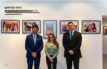 "H.E. Ambassador Raj Kumar Srivastava visited the exhibition ""Ascetic and lavishing India"" at the Gallery AMZ and met with Mr. Mihelić, Director of the Archaeological Museum, Zagreb to discuss bilateral collaboration in the field of archaeology & future collaboration in other cultural fields."