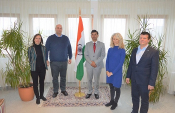 H.E. Ambassador Raj Kumar Srivastava had an excellent meeting with Yoga in Daily Life, Rijeka & Croatian-Indian Friendship Society and discussed the endeavours and goals for 2021. Exchanged various life facets & joint impressions which are unique for promoting India in Croatia.