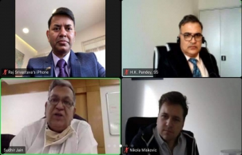 H.E. Ambasador Raj Kumar Srivastava participated in the first virtual conversation between FER of University of Zagreb and IIT Gandhinagar. This would result into a very broad based education and research cooperation between two world class institutions bringing India & Croatia closer