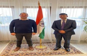 H.E. Ambassador Raj Kumar Srivastava meets with Mr. Frane Šesnić, President of Zagreb Innovation Centre. Discussed the forthcoming 1st India-Croatia Startup meeting