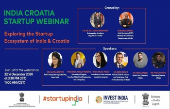 India Croatia Startup Webinar' was organized by Startup India and Croatian counterparts to explore opportunities in the flourishing startup ecosystems of the 2 nations!