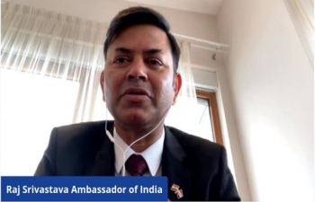 H.E. Ambassador Raj Kumar Srivastava participated at the India-Croatia Startup Webinar under the auspices of Invest India which will create a India-Croatia Startup Ecosystem. Experts & Startups from 2 countries presented opportunities in Healthcare, Agriculture, Cyber Security, Enterprise Solutions & Environmental tech.