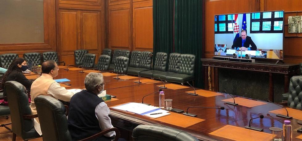 Virtual Conference between MOS(MEA) H.E. Shri  V Muraleedharan and his Croatian counterpart Mr. Frano Matuši?, State Secretary for Political Affairs, MFEA (22 Dec 2020)