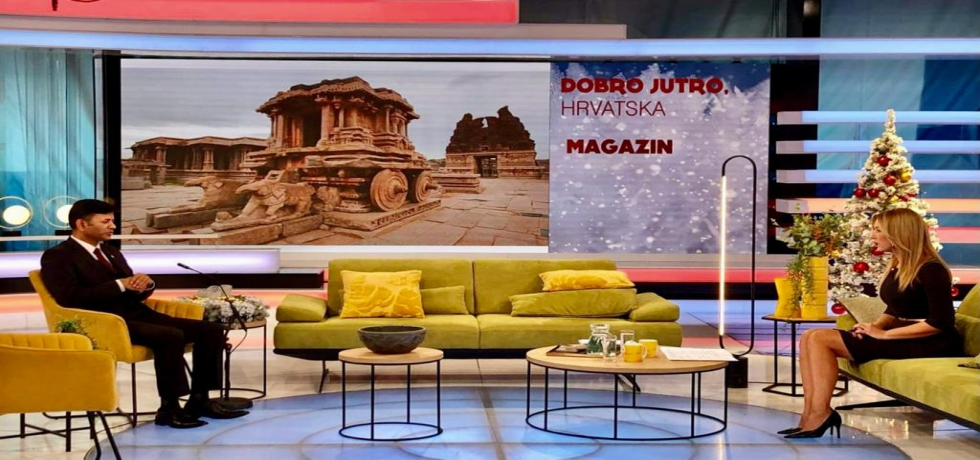 Interview with Ambassador in Croatian National Television (HRT) Studio