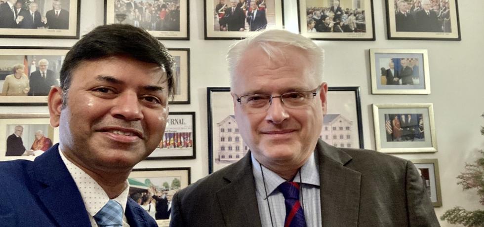 Ambassador meets with H.E. Mr. Ivo Josipovic, former President of Croatia (16 Dec 2020)