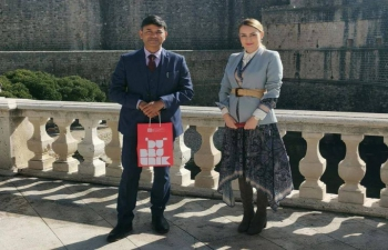 H.E. Ambassador Raj Kumar Srivastava met with Mrs. Ana Hrnić, Director of Dubrovnik Tourist Board and exchanged ideas in the field of Tourism & Bollywood to further enhance India & Croatia B2B & P2P connections.