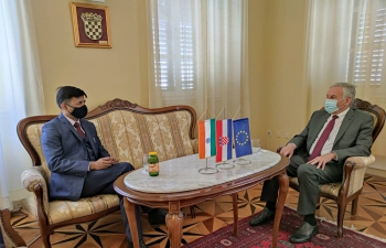 H.E. Ambassador Raj Kumar Srivastava met with Dubrovnik County Prefect Mr. Nikola Dobroslavic & discussed cooperation in the field of healthcare, digital technology, education, tourism & culture for further strengthening India & Croatia G2G, B2B & P2P connections.