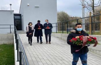 H.E. Ambassador Raj Kumar Srivastava visited and paid respect to the Romani Memorial Center & Uštica Cemetery with Member of Parliament Mr. Veljko Kajtazi.