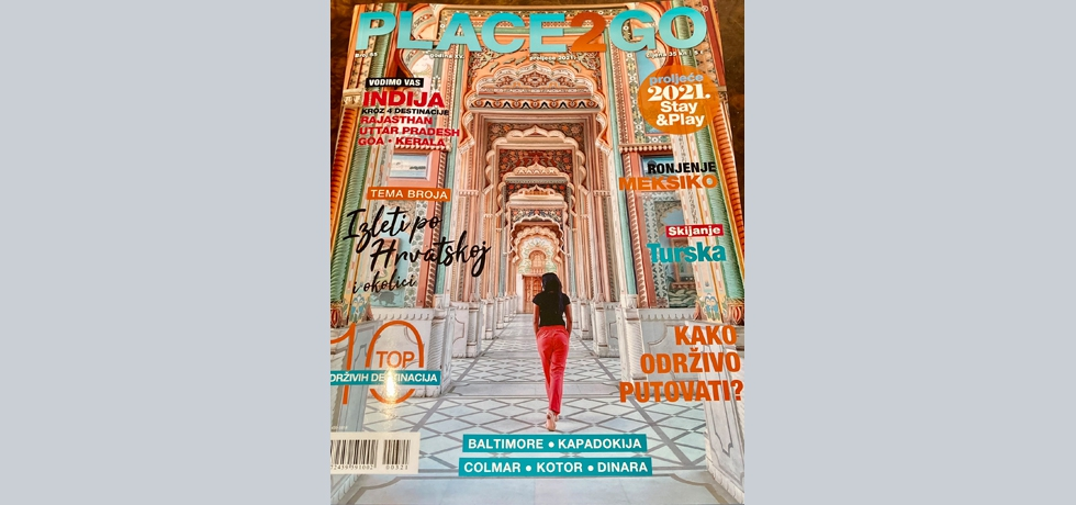 India as place to go in the spring edition of the popular Place2Go magazine