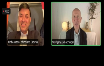 "The Online Session ""Ayurvedic Strategies for a Strong Immune System"" with H.E. Ambassador Raj Kumar Srivastava, Dr. Wolfgang Schachinger & Yogacharya Jadranko Miklec emphasized on following the simple principles of Ayurveda, to improve human health and immunity especially in the face of current pandemic. Let right food be the medicine and kitchen be the pharmacy. Give digestive system time between meals to convert food into energy - ""Ojas"" and let Ojas create dynamism, radiance and cohesion in our lives"