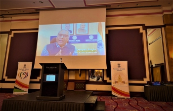 The Embassy of India, Zagreb organized a Brainstorming session to strengthen India-Croatia Business & Innovation partnership with distinguished Croatian entrepreneurs. A video message from Mr. Deepak Bagla from Invest India set the tone for a session full of ideas about opportunities for Croatia in #NewIndia's journey towards #India@75