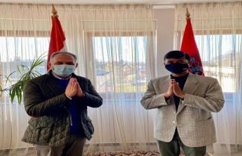 H.E. Ambassador Raj Kumar Srivastava had a substantive meeting with Hon'ble MP & Chairman of Croatia-India Friendship Group Mr. Veljko Kajtazi about the forthcoming International conference on the Roma Community in Croatia