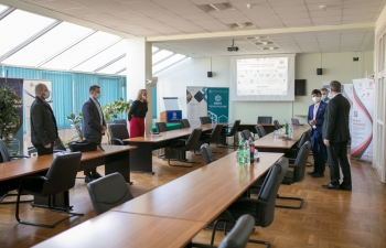 H.E. Ambassador Raj Kumar Srivastava visited the Faculty of Electrical Engineering, Computer Science and Information Technology, Faculty of Electrical Engineering, University of Osijek as part of his inaugural visit to Osijek, he was introduced by the Dean and Vice Dean of the Faculty of achievements and future goals which include the collaboration with Indian universities