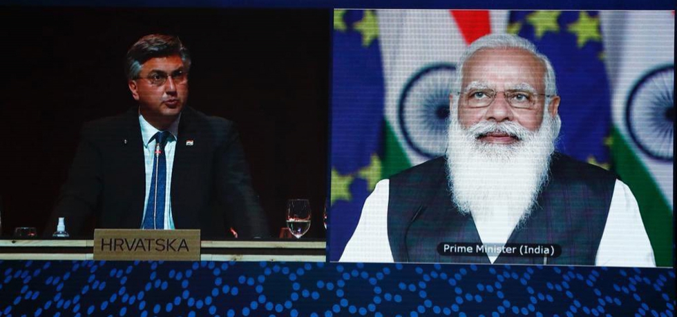 At the India EU virtual summit on 8th May 2021