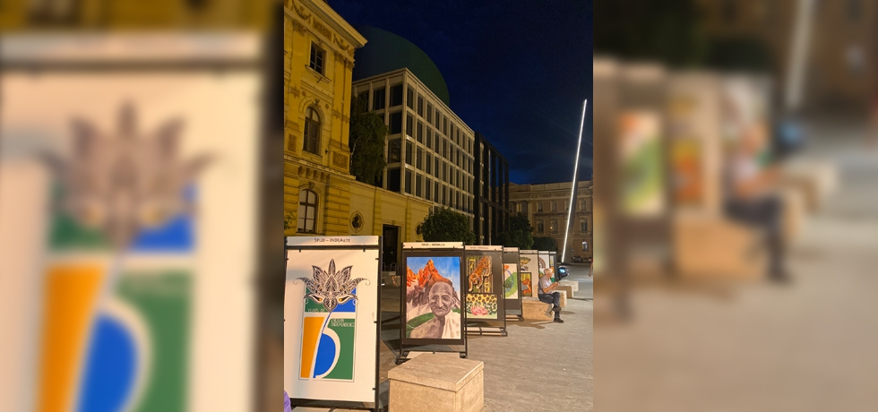 INDIA@75 open-air painting exhibition in front of National Theatre of Zagreb from 17 June to 16 July 2021