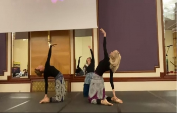 """Shanti Yoga Group creates and performs Yoga position based choreographies. """"Shanti"""" means peace in Sanskrit and our mission is to promote peace and joy that practice of Yoga brings to the body, mind and soul. Shanti Yoga group consists of yoga teachers: Izabela Marić, Nana Sklevicky Majer, Helena Cuculić and Svemir Vranko. May this choreography on music of Shanti mantra by Tina Turner inspire and bring peace to everyone"""